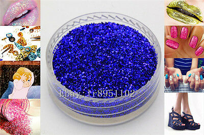 Sapphire 10g Nail Art GLITTER Sequins crafts DIY makeup Powder Crystals 1 Pack