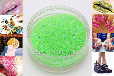 Green AB 10g Nail Art GLITTER Sequins crafts DIY makeup Powder Crystals 1 Pack