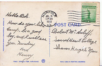 Genealogy Postcard - Family History - Mc Suliffe? - Sacred Heart College  Q949