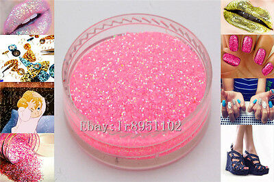 Pink AB 10g Nail Art GLITTER Sequins crafts DIY makeup Powder Crystals 1 Pack