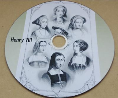 Henry VIII History 60 + old books ebooks on disc PDF for PC and Kindle Format