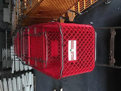 Used Shopping CARTS Grocery Discount Retail Store Fixtures Heavy Duty ORANGE,RED