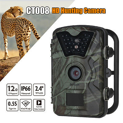 12MP Trail Wildlife Scouting Night Vision 850nm IR LED Infrared Hunting Camera