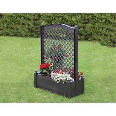 gartenspalier spalier rankgitter rankhilfe pflanzkasten blumenk bel wei rattan eur 89 99. Black Bedroom Furniture Sets. Home Design Ideas