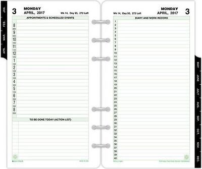 2-Page-Per-Day Reference Planner Refill Portable Size  (10801) - April