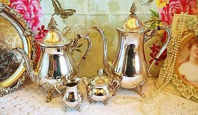 Stunning Viners Sheffield silver plate 4 piece tea/coffee set.