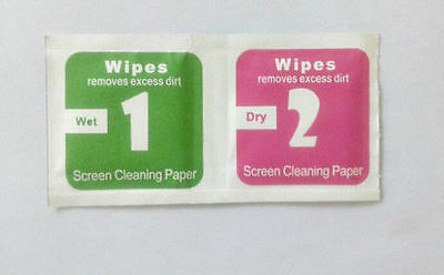 400xCamera Lens LCD Screen Dust Jemoval Dry Wet Cleaning Cloth Wipes JE