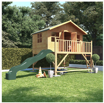 Wooden Play Houses BillyOh Tower Playhouse with Slide Option Garden Wendy Houses