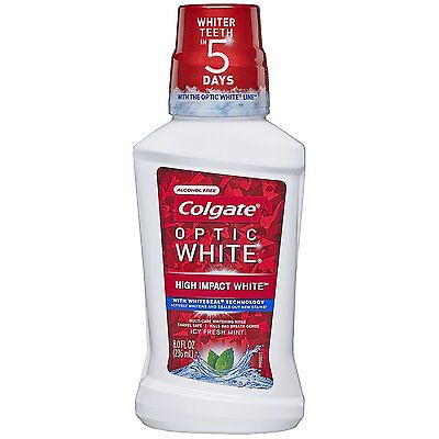 Colgate Optic White Whiteseal Mouthwash, Icy Fresh Mint, 8oz