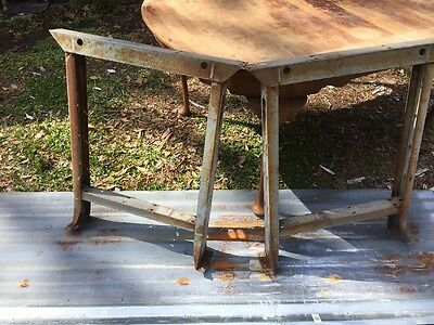 Vintage Salvaged Industrial Metal Legs Steampunk Coffee Table Base Frame Stand