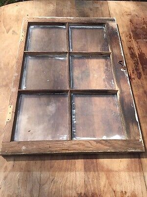 VINTAGE 6 Pane Window ARCHITECTURE SALVAGE Shabby ~DISTRESSED~chippy W/HARDWARE