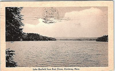 Postcard MA East Monterey Lake Garfield From East Shore H8