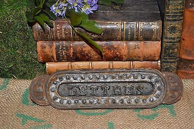 Antique French Cast Iron Letter Box Mail Slot Lettres