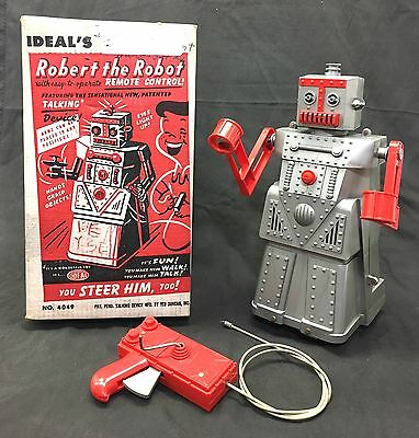 Vintage Robert the Robot Remote Control by Ideal Toys 4049 Made USA 1950's N Box