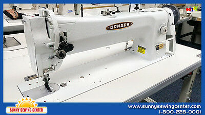 CONSEW 206RBL-18 Long Arm Single Needle Walking Foot Sewing Machine 4 Upholstery
