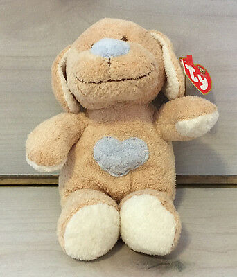 Baby Ty Pluffies Huggypup Puppy Dog Plush! MWT 8 Inch Stuffed Animal Toy Lovey