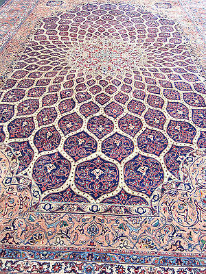 Antique Persian Rug Tabriz 11x16 feet %100 WOOL Extremely Rare, 60-70 year old