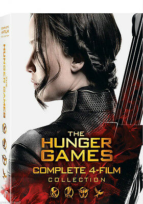The Hunger Games: The Complete 4-Film Collection (DVD, 2016, 8-Disc Set )