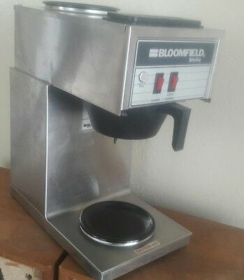 Bloomfield Koffee King Two Burner Commercial Coffee Maker Brewer Stainless Steel