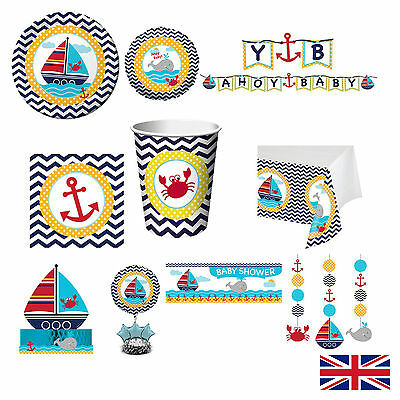 Ahoy Matey 1st Birthday Party Tableware Pirate Decorations Baby Shower Ship Boat