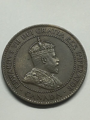 Canada Large Cent 1905. VF+  #1701