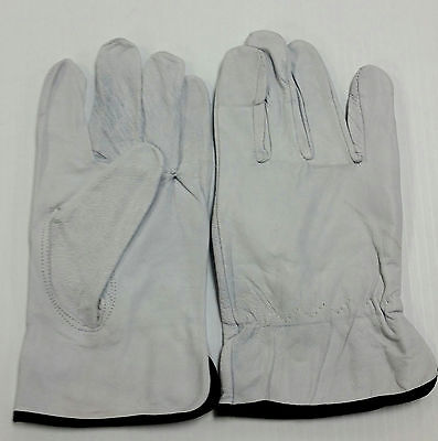 12 Pair - Goat Skin Leather Driving, Work Safety (PPE) - Goatskin Drivers Gloves