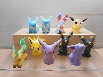 Pokemon Finger Puppet Figure Eevee Umbreon Espeon Sylveon Set Clear Lot Bandai