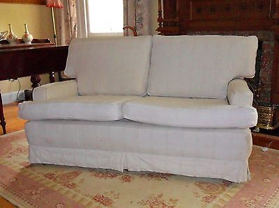 Vintage Modern Cotton/ Linen Two Seater Couch