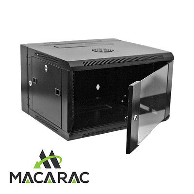 "12U 550 WALL SWING MOUNT CABINET (19"" Rack / Provision for 2 x 240v Cooling Fan)"