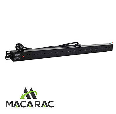 "15 WAY PDU (Vertical) SURGE PROTECTED (19"" Inch Rack-Mount Application)PDU"
