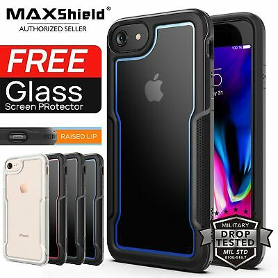 iPhone 8/7, 7/8 Plus Case, Heavy Duty Shockproof Clear Slim Cover For Apple