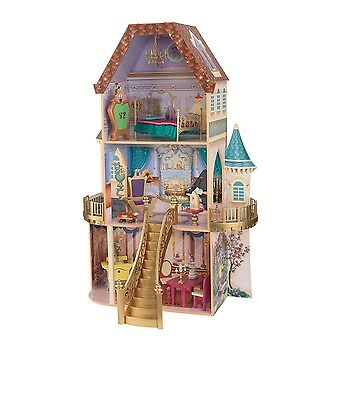 KidKraft Belle Dollhouse Enchanted Furnished Beauty And The Beast Kids Girls New