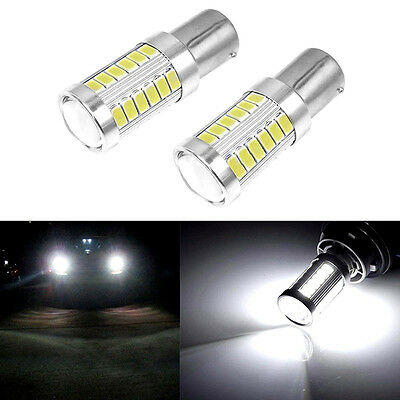 LED Car 2x White Bulbs BA15S P21W 1156 Backup Reverse Light 33-SMD 5630 5730 12V