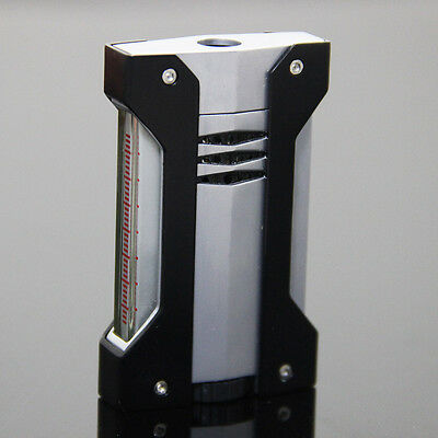 Black Metal Side Press 1 Torch Jet Flame Cigar Lighter for COHIBA Cigar