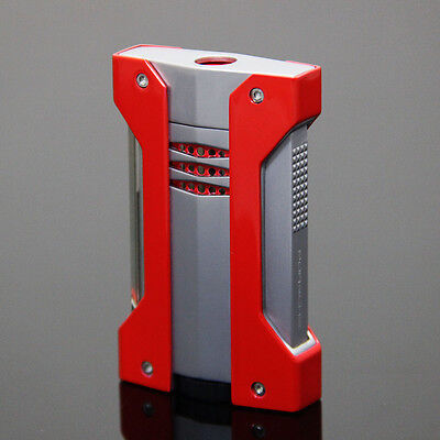 Red Metal Side Press 1 Torch Jet Flame Cigar Lighter for COHIBA Cigar