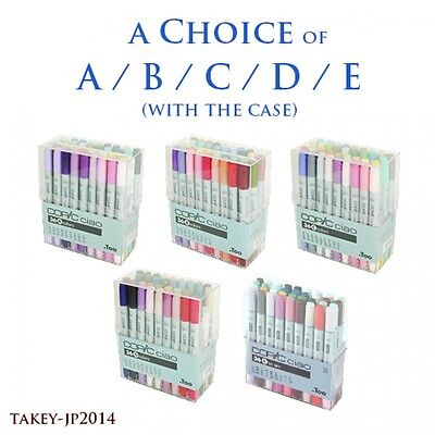 TOO Copic CIAO 36 colors A/B/C/D/E with Case from Japan F/S with Tracking