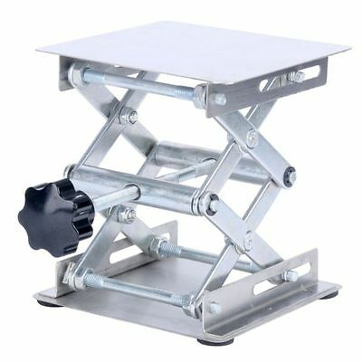 "Alloy Steell Lab-Lift Lifting Platforms Stand Rack Scissor Lab 4''x 4"" -BM"