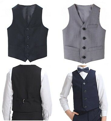 Boys Page Prom Wear Wedding Formal Waistcoat Christenings Formal Suit Special