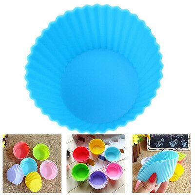 Silicone Round Cup Cake Muffin Cupcake Cases Baking Cup 7cm Diameter Cup UK