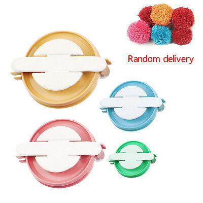 New 4 Sizes Essential POMPOM MAKERS Fluff Ball Weaver Needle Knitting DIY Tools