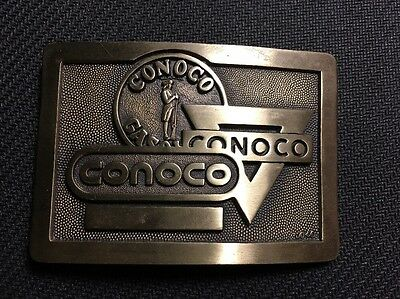 CONOCO Belt Buckle Solid Brass