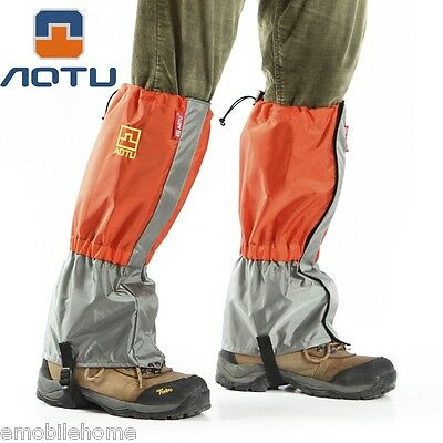 AOTU Outdoor Waterproof Gaiters Paired Leg Protective Guard for Skiing Hiking