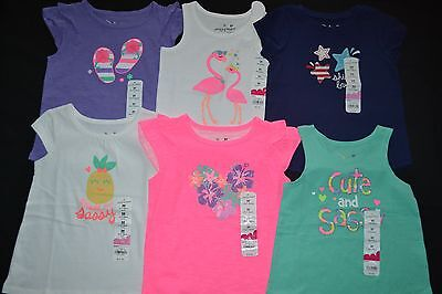 CUTE Toddler Girl Summer/Spring Top Shirt 6pc LOT Pink Purple - 2T / 24 MO NWT