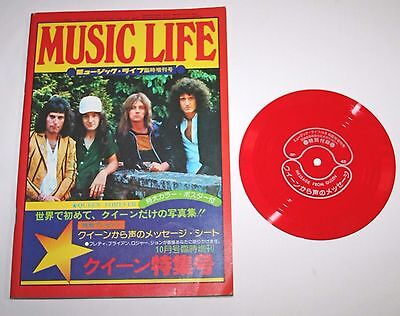 Vintage Music Life Original Special Issue Queen + Flexi Sheet 1975 Japan