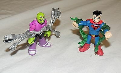 New Fisher Price Imaginext DC Superfriends Blind Bag Superman Brainiac 2 Pack