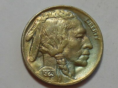1923-P Indian Head Buffalo Nickel - Mint State, MS - Great tone