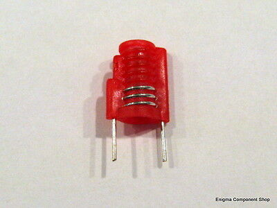 Miniature Moulded Variable Inductor. 2.5t, Red, 22-35nH. 'Mini S18' UK Seller.