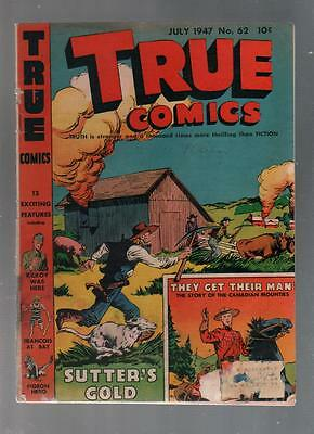 True Comics lot of three #62 #65 and #76