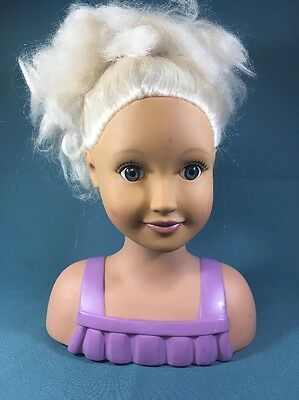 Our Generation Battat Styling Head Doll Layered White Blonde Hair