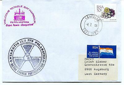 1990 Polarstern Totable Bay Cape Town Dutch French Participation Polar Cover